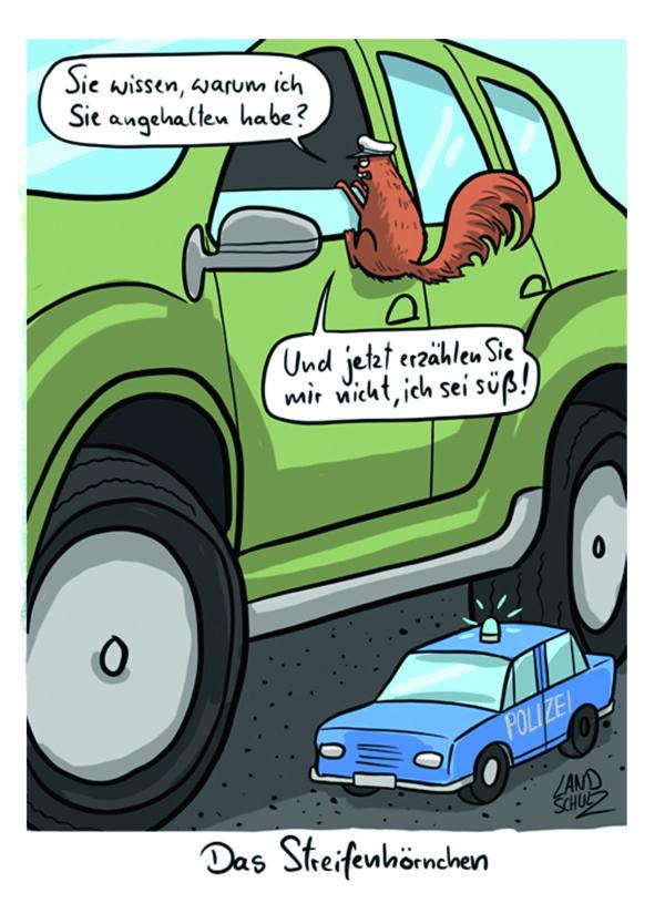 Cartoon: Streifhörnchen