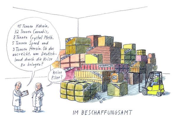 Cartoon: Beschaffungsamt