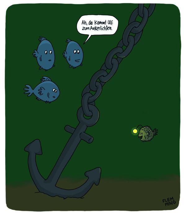 Cartoon: Ankerlichten